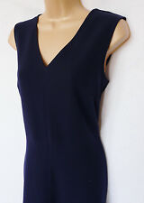 NEXT BNWT Ladies navy stretch skater knee shift work office dress tailored RRP50