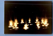 FOUND COLOR PHOTO J_1380 DARK VIEW OF ABSTRACT LIGHTS IN WATER FOUNTAIN