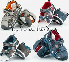 Toddler Boys Kids Summer Sandals Beach Shoes Leather Insole Size UK 3.5 - 12.5