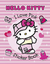Hello Kitty Activity Book - Hello Kitty Sticker Book - I LOVE PINK - NEW