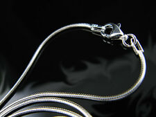 """.925 Sterling Silver 20"""" 1.25mm Snake Chain Necklace !!"""