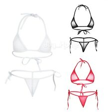 Women Lingerie Bandage Bikini Swimsuit G-string Top Bottom Swimwear Brazilian