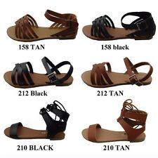 New Women's Summer Gladiator Strappy Flat Flip Flops Sandals Shoes  size: 5 - 10