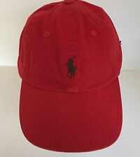 NWT POLO Ralph Lauren Red One Size Cotton Classic Sport Baseball Cap w/Pony
