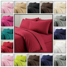 Plain Duvet Cover with Pillow Case Quilt Cover Bed Set Single Double King Size
