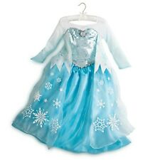 NWT Disney Store Frozen Elsa Snowflake Costume Cameo Dress 5 6 7 8 9 10  Gown