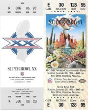 Chicago Bears XX Dallas Cowboys XXX 1998 Sprint Replica Super Bowl Ticket