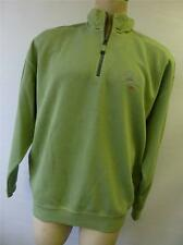 mens thick TOMMY BAHAMA Relax Light green 1/2 zip SWEATER shirt sz Large clean