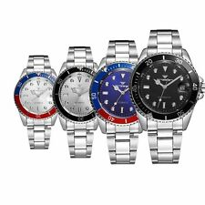 Luxury Men's Date Analog Army Mechanical Automatic Stainless Steel Wrist Watch