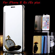 Luxury New Flip Mirror View Metal Glossy View Case Cover For iphone