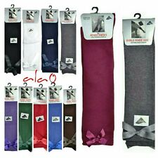 3 Pairs Bow Knee high socks school girls/kids all size&colour with 10 to 30% OFF