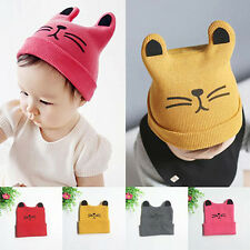 Baby Toddler Girl Boy Cute Rabbit Ear Cat Knit Earflap Beanie Hat Cap Affordable