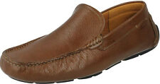 MENS CLARKS DAVONT DRIVE SLIP ON TAN LEATHER SMART LOAFER STYLE CASUAL SHOES