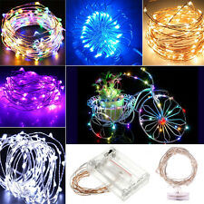 2M 4M FLEX BATTERY OPERATED MICRO SILVER WIRE STRING FAIRY PARTY LED LIGHTS LAMP