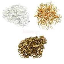 100 x Silver Gold Bronze Pendant Pinch Clip Clasp Bail Connector Finding 8.5x4mm
