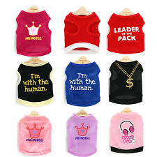 Teacup Dog Clothes Pet Vest Small Puppy Cat Tee shirt yorkie maltese Chihuahua
