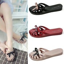 Women Jelly Casual Sandals Hollow Out Closed toe Non-slip Beach Shoes Slippers G
