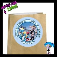 Smurfs 2 Birthday Party Favor Goody Bag STICKERS - Personalized Loot Bag Labels