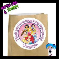 Disney Princess Birthday Party Favor Goody Bag STICKERS - Personalized Loot Bag