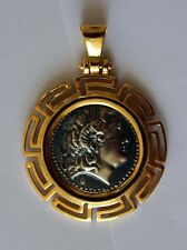 ALEXANDER GREAT GREEK COIN MEDIUM SIZE sterling silver 925 gold plated code 30