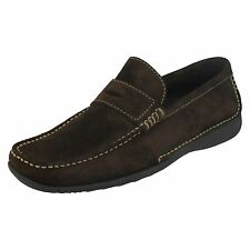 Mens Loake Slip On Suede Loafer Shoes Cortina