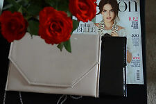 Stylish  Envelope Patent Clutch Bag/ Wedding Party Prom Black/Nude