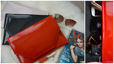 Stylish  Envelope Patent Clutch Bag/ Wedding Party Prom Red/ Black/Nude/Silver