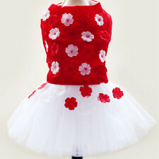 Chihuahua Dog Clothes Dress Pet Tutu Lace Shirt for teacup Dog yorkie maltese