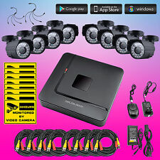 8CH DVR 1080N IR Cut Outdoor Camera Home CCTV Security Video System Night Vision