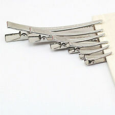 20x Flat Single Prong Alligator Clips Barrette Bows DIY Hair Accessories Peachy