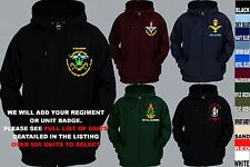 UNITS 0 TO 21 UK & FOREIGN ARMY AIR FORCE NAVY REGIMENT ZIP UP HOODY XS TO 5XL