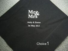 130 Personalised Wedding Napkins 10 designs  12 colours