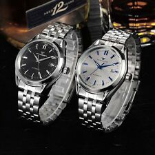 Mens New Automatic Mechanical Watch Stainless Analog Date Wrist Watch Skeleton