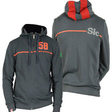 MARCO SIMONCELLI 58 MENS CHARCOAL HOODIE JUMPER MOTOGP SIZES S & M ONLY