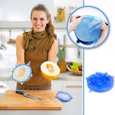 6Pcs/Set Silicone Lids Food Fresh Keeping Storage Bowl Cup Cover Kitchen Tool