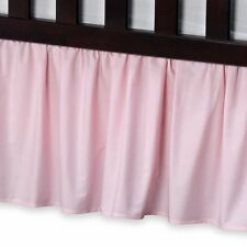 1 Qty Bed Skirt Ruffle/Gathering Egyp.Cotton Drop 8-30 Inch Pink Solid