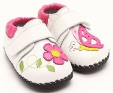 "Freycoo ""Fly"" Cream Soft Sole Leather Shoes Baby Girls sizes 6 to 24 months"