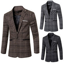 Mens Coat Jacket Blazers Slim Fit Stylish New Fashion Casual One Button Suit