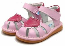 "Freycoo ""Love"" Pink Girls Leather Sandals"