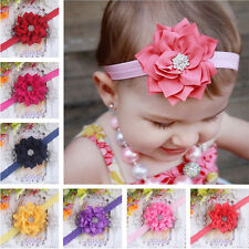 Kid Baby Girl Rhinestone Flower Infant Toddler Headband Hair Bow Band Accessorie