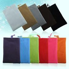 """4.5"""" Universal Soft Velvet Pouch Pocket Case For Cell Phone PDA Gadgets 55B4"""