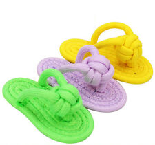 Puppy Dog Pet Toy Cotton Braided Bone Rope Chew Knot slipper Play for Fun Teeth