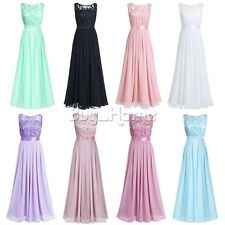 Women Party Evening Wedding Bridesmaid Prom Graduation Ball Long Dress Formal