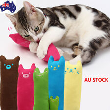 AU Cat Kitty Teeth Pillow Interactive Scratch Crazy Kicker Catnip Toy Grinding