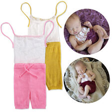 Cute Newborn Baby Girl Lace Knitted Romper Jumpsuit Photo Prop Costume Outfit