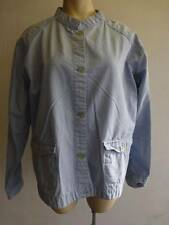 womens lite blue thin Columbia button up Jacket coat sz XL X Large pockets EUC