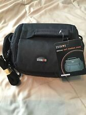 Brand New! Zeikos ZE-CA48B Deluxe Soft Medium Camera and Video Bag! Ships Fast!!