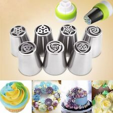 Icing Piping Nozzles Cake Baking Tool 7pcs Russian Big Flower Stainless Steel
