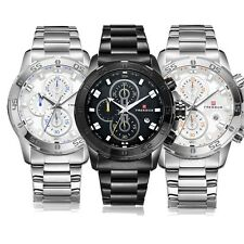 Luxury Men Sport Analog Quartz Watches Stainless Steel Military Date Wrist Watch