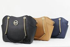 Michael Kors Saffiano Jet Set Travel Large Chain Tote Shoulder Bag Handbag New